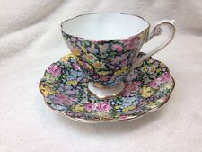 VTG Royal Standard Fine Bone China England Tea Cup & Saucer, Pattern 1810 Chintz