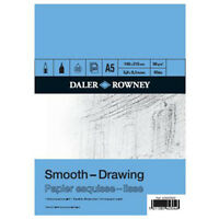 A5 DALER ROWNEY DRAWING SKETCH PAD 96gsm 50 SHEETS ARTIST CARTRIDGE PAPER blue