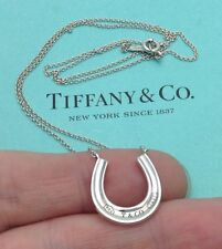 "Tiffany & Co. Sterling Silver 1837 Horseshoe Pendant 18"" Necklace"
