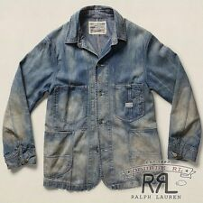 $490 RRL Ralph Lauren Vintage 1940s Fremont Washed Denim Barn Jacket- MEN-L