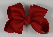 Red Boutique Grosgrain Bow - Smaller Bow for the Little Girl Head or Ponytails