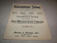 Kashmiri Song Pale Hands I Loved Vintage 1930 Sheet Music Hope Woodforde-Finden