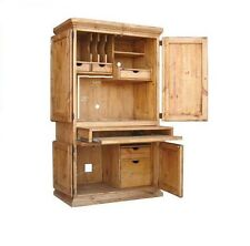Rustic Computer Armoire Western Cabin Lodge Storage Real Solid Wood