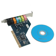 New 7.1CH Surround Audio PCI Sound Card 3D Technology 32-Bit Windows 7 10 64/XP