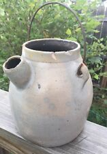 Antique Batter Jug Havana NY Stoneware VERY OLD RARE