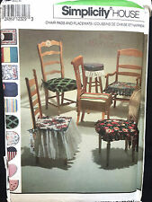 7749 Simplicity HOME Dec KITCHEN HOUSE Chair Pads Cushions Placemats  Pattern UC