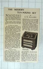 1939 A Review Of The Mcmichael 380 All-wave Superhet Radio Set