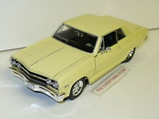 MAISTO 65 CHEVY MALIBU SS 396 STREET ROD LIGHT YELLOW USA FREE SHIP 1:24