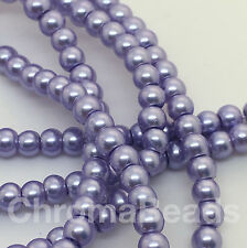 3mm Glass Faux Pearls strand - Lavender (230+ beads) jewellery making, craft