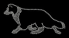 Border collie rhinestone bling transfer
