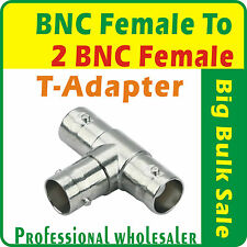 5 x BNC Female to 2 BNC Female Coaxial T Adapter/T-Connector
