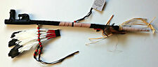 Native American Peace Pipe -Replica Pipe with Animal, Tree Trunk & Real Feathers