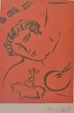 "MARC CHAGALL ""Le peintre en rose"" HAND NUMBERED signed SERIGRAPH"