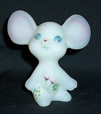 Fenton Glass Hand Painted Mouse