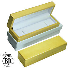 BJC® Natural Maple Bracelet / Watch Box Wooden Wood Jewellery Gift Box RRP £49
