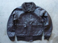 Vintage Star Sportswear Mfg Co Type G-1 USN Leather Flight Jacket Size 40 60s