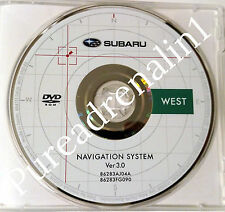 2010 2011 SUBARU OUTBACK LEGACY NAVIGATION MAP DISC CD DVD WEST 3.0 UT OR CO TX