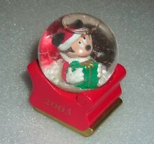 "DISNEY MICKEY MOUSE CHRISTMAS 2003 2.5"" SNOW WATER GLOBE"