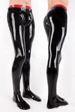 Latex Rubber Gummi Black and Red Stylish Hose Cool Pants Size XS-XXL