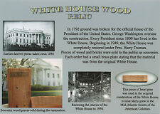 WHITE HOUSE Wood Relic * Actual White House Piece  RARE * President *UNIQUE GIFT