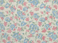 """50's VTG FULL COTTON FEEDSACK Feed Sack Unopened  36"""" L Blue Poppies Pink Green"""