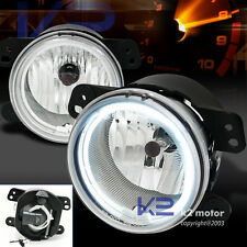 Chrysler 300 PT Cruiser CCFl Halo Rim Clear Fog Lights Bumper Lamps+Switch Kit