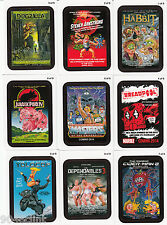 2013 WACKY PACKAGES SERIES 11 COMING DISTRACTIONS COMPLETE SET 9/9 MOVIE PARODY