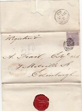 * 1865 6d PLATE 5  =466= LIVERPOOL COVER REGISTERED MERSEY DOCK & HARBOUR BOARD