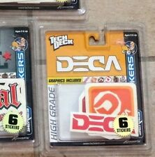 Tech Deck DECA Sticker Set Mint on Card in NEW Sealed Package from 2002