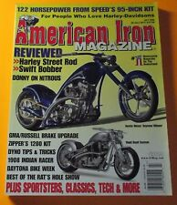 AMERICAN IRON MAGAZINE JULY/2006..BEST OF THE RAT'S HOLE SHOW...DONNY ON NITROUS