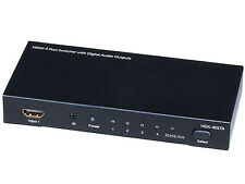4X1 HDMI Switcher w/ Toslink & Digital Coaxial Port (Rev.2) w/ 3D support 5557