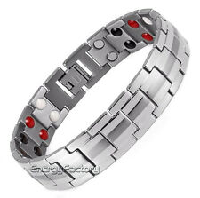TITANIUM Anion Magnetic Energy Germanium Power Bracelet Health 4in1 Bio Armband