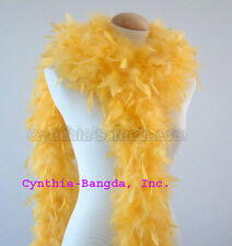 65 gms Chandelle feather boa boas GoLD YeLLow NEW!