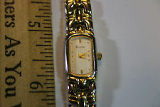 Ladies Bulova Quartz Watch Two Tone .. new battery works ! look!    JSH