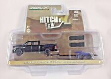 GREENLIGHT HITCH & TOW 2015 RAM 1500 MOPAR EDITION AND FLAT BED TRAILER