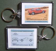 1978 BMW M1 M-1 Car Stamp Keyring (Auto 100 Automobile)