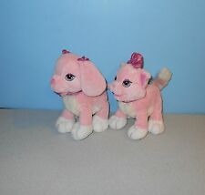 Animal Alley Toys R Us Pink Ginger & GiGi Puppy Kitty Bean Stuffed Plush Animals