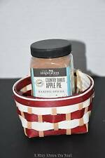 Longaberger 16 Candy Cane Round Gift Basket in Red/White with Apple Spice Powder