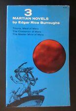 DOVER~3 MARTIAN NOVELS:THUVIA~CHESSMEN~MASTER MIND OF MARS~EDGAR RICE BURROUGHS