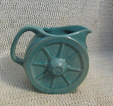 "FRANKOMA TURQUOISE GREEN WAGON WHEEL 1942.. 4"" HIGH CREAM PITCHER 94A  ADA CLAY"