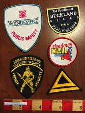 5 Patches, Mostly Security Guard Mall Cop Windemere Advanced Buckland Hills 59Z1