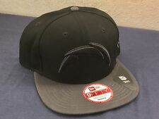 SAN DIEGO CHARGERS BOLT NEW ERA SNAP BACK HAT BLACK GREY NEW NFL