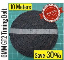 GT2 6MM Timing Belt 10 Meters Single length. Save over 30%. High qualilty