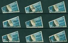 [JSC] 1970 Malaysia Space Satellite Earth Station Trapezium Stamps x 9