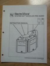 Suspending Instruction Manual ~ EV Electro-Voice System 200 Speakers Sx200 Sx100