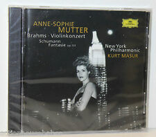 ANNE-SOPHIE MUTTER BRAHMS VIOLINKONZERT SCHUMANN CD BRAND NEW