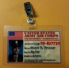Wonder Woman  ID Badge-USAAC Steve R. Trevor  pic cosplay costume prop