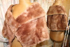 1950s brown golden mink fur stole wrap - Ditsy Vintage Vamp Glitzy Glamour