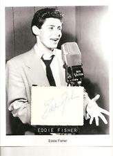Eddie Fisher Autograph Singer Star Father Carrie Fisher Husband Liz Taylor