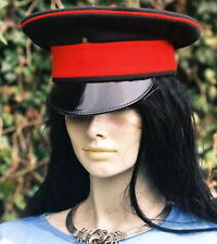 Black ROYALS PEAKED CAP/HAT 55 s Army military chauffeur Fancy Dress Goth Visor
